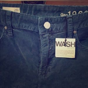 NWT Gap Navy Corduroy Perfect Boot Jeans Size 28